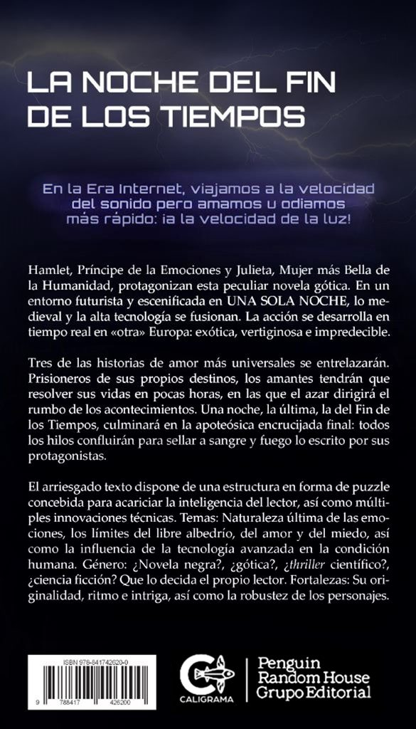 """Sinopsis de la novela """"La noche del fin de los tiempos"""""""